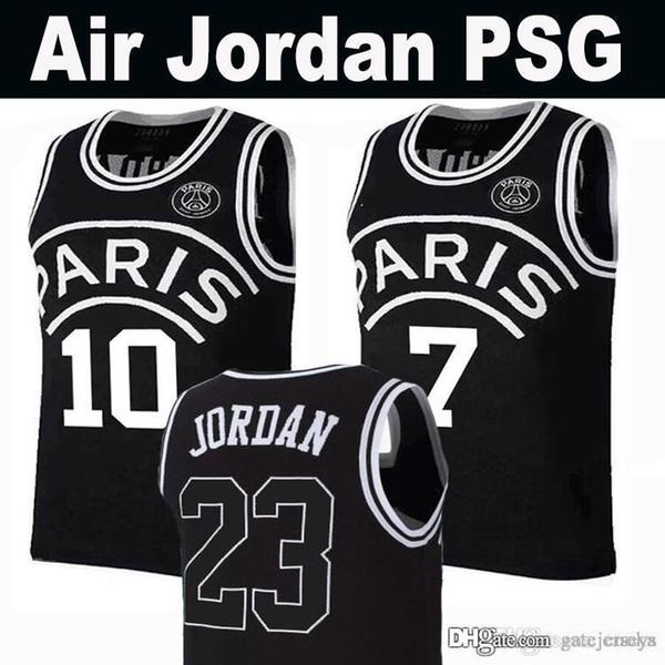 c294b69904010 New 2019 PSG Paris Jersey 23 Michael JD 10 NEYMAY JR 7 MBAPPE Paris Basketball  Jerseys