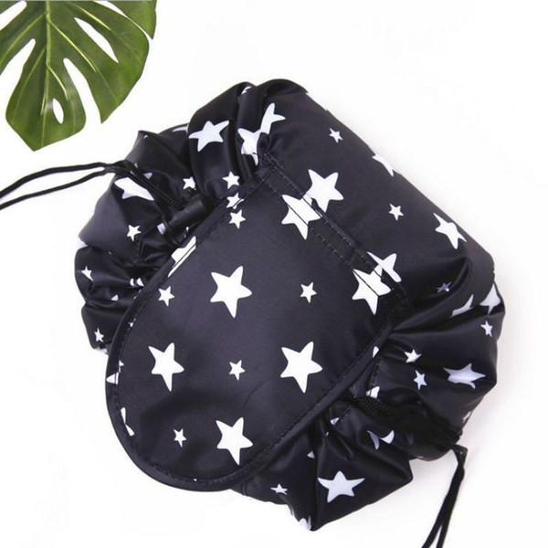 New Fashion lazy person cosmetic bag printed drawstring makeup bag Portable Quick Pack Waterproof Travel Bag girls Storage Bags