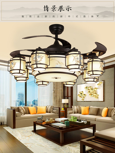 best selling Mute Electric Fans MD2930 With Chinese Style LED Ceiling Light 42Inch Fans