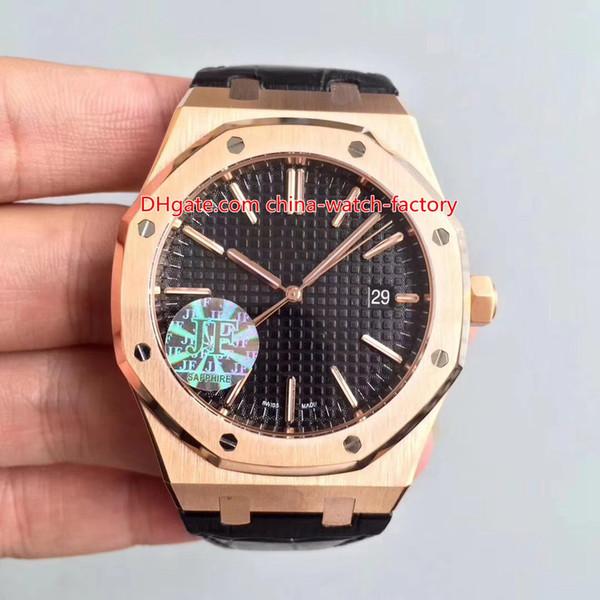 5 Estilo Venta caliente La mejor calidad 41 mm Offshore 15400OR.OO.1220OR.D002CR.01 18k Rose Gold CAL.3120 transparente automático para hombre Relojes