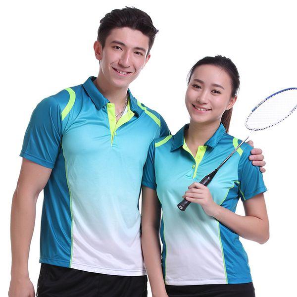 Sportswear Quick Dry breathable badminton shirt,Women/Men table tennis clothes team game training short sleeve T Shirts