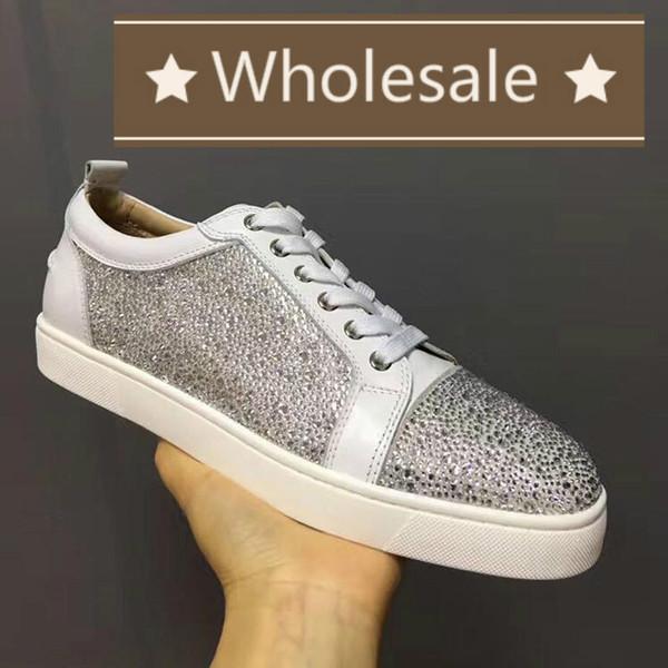 Mens Designer Chaussures Sneakers Designer coupe basse Spikes Flats chaussures Bas Rouge Pour Hommes et Femmes Baskets En Cuir Parti Designer Gros zx **