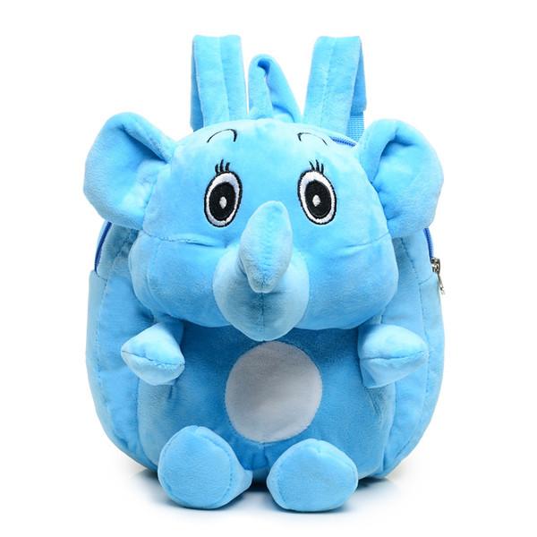Elephant Plush Backpacks Cartoon Animal Backpack Kids Adjustable Schoolbag Kindergarten shoulder Bags Baby school bags GGA1612 20PCS
