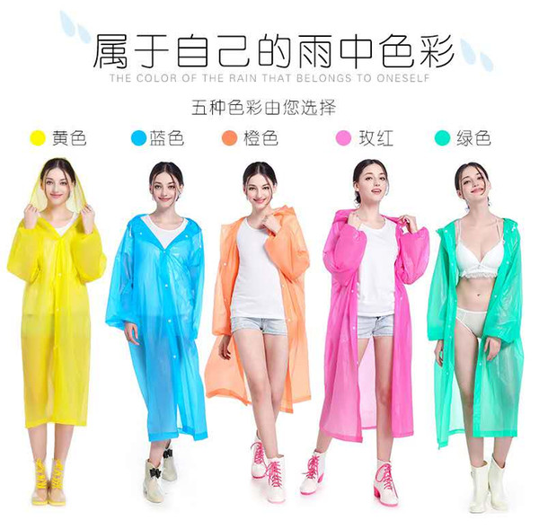 2019 nouvelles ventes directes de Rain Wear Factory 19 nouvelles PEVA non jetables, EVA imperméable voyage extérieur imperméable léger en gros