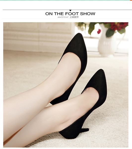 Dress Hot Sales Full Season Daily Women Pumps 5cm And 7cm High Heels Leather Classic Office Shoes Size 34-40 Junshangelangel