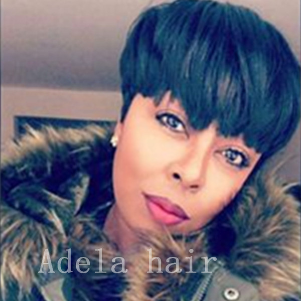 Celebrity wig 6A Grade Glueless Full Lace Chic Cut Short Human Hair Wigs Unprocessed Virgin Brazilian Human Hair Wigs