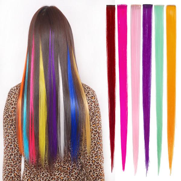 Moda 24 renk peruk parçası sıcak rulo kesim peruk parçası renkli Avrupa ve Amerika serin degrade saç parçası