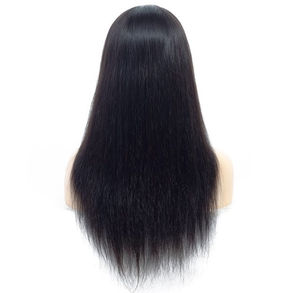 10A Body Wave Straight Human Hair Lace Front Wigs Brazilian Hair Medium Size Swiss Lace Cap Bleached Knots natural looking For Black Women