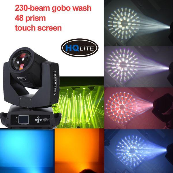 Gobo lavar Beam 230 r7 Moving Head com 48 prisma = 24 + 16 + 8 prisma dj DISCO estágio de iluminação de vidro gobo grande padrão
