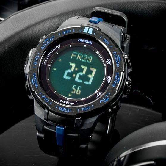 Prw 3100 outdoor mountaineering waterproof men's watch multi function watch quartz movement resin watchband pin buckle