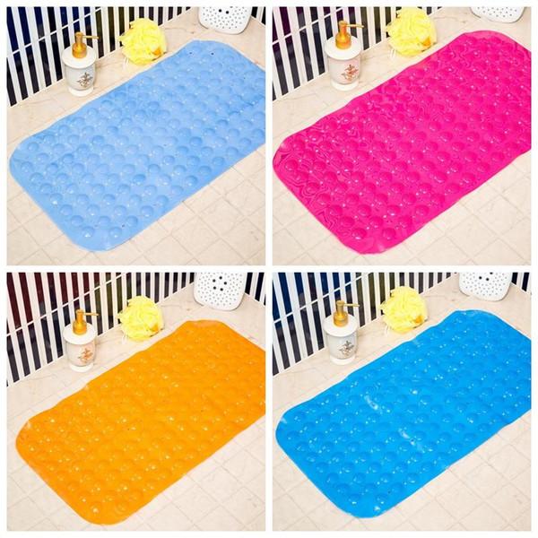 35*65cm Bath Mats Anti-slip Massage Mat Bathroom Pierced PVC Safe Pad With Suction Cups Bath Non-Slip Mat Bathroom Accessories DH0757