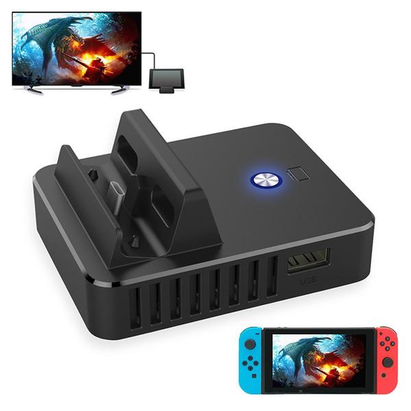 TV HDMI Conventor per Switch, supporto per caricabatterie Switch TV, dock di ricarica portatile per Nintendo Switch con chip elettronico