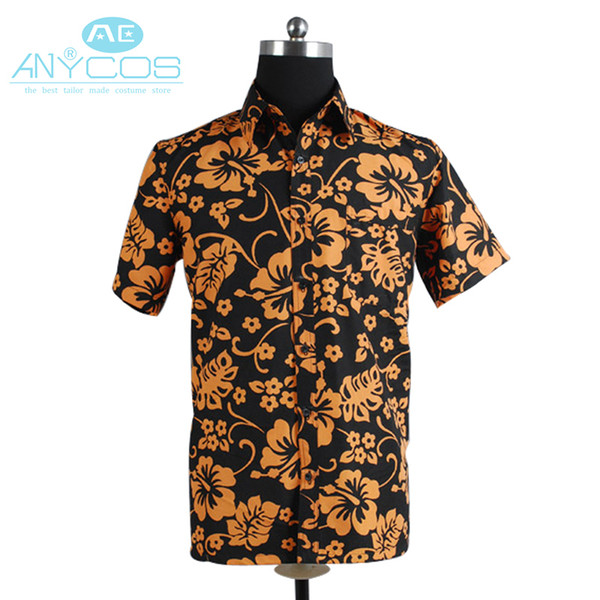 Costumes Accessories Cosplay Costumes Fear and Loathing in Las Vegas Raoul Duke Shirt Halloween Party Movie Cosplay Costume
