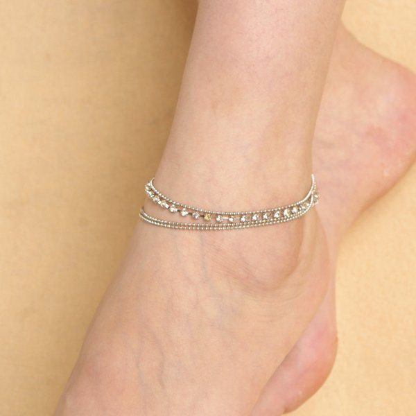 Multi Layer Gift Jewelry Accessories Rhinestone Dressing Dating Fashion DIY Shopping Sparkling Women Anklet