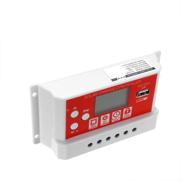 10A 12V24V Solar Panel Battery Regulator Charging Controller 3-Stage PWM LCD