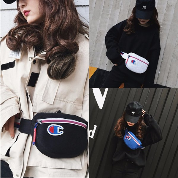 ins Champion Bags Brand Designer Canvas Backpack Fashion Men Women Casual Sports Waist Bag Travel Phone Wallets New C3152