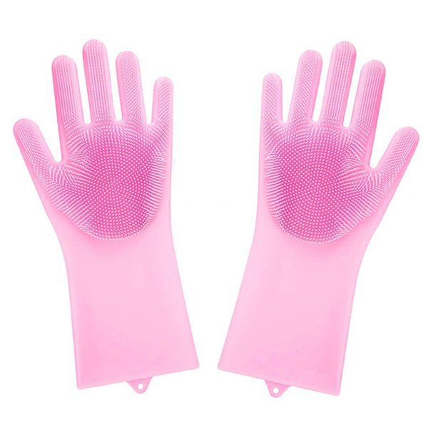 Silicone gloves kitchen special cleaning brush bowl waterproof insulation vibrating housework dishwashing artifact cleaning tool