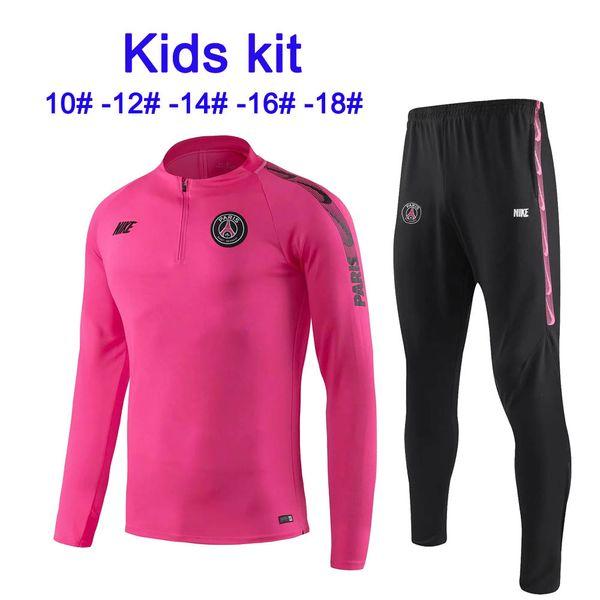 19 20 new season Paris MBAPPE bambino Tuta sportiva T-shirt Barcelona Messi pullover da calcio AGUERO Hazard kids maillot de foot