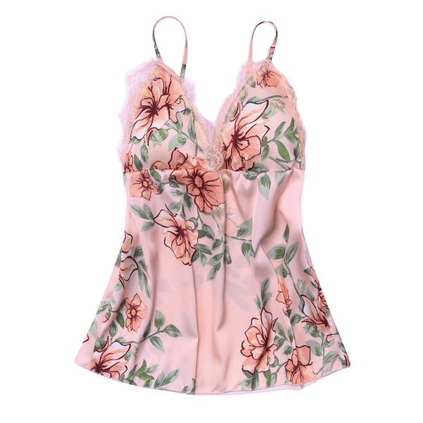 Fashion Sexy Flower Lace Sleepwear Lingerie Nightwear Temptation Underwear Sleepshirts Nightgowns night dress roupas feminina