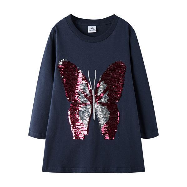 marina lentejuelas mariposa azul