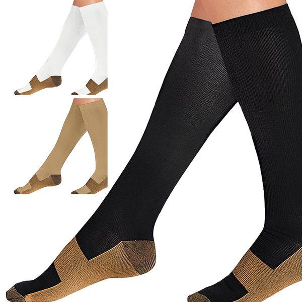 1Pair Anti-Fatigue Unisex Women Men Compression Socks Comfortable Soft Knee High Magic Varicose Veins Socks
