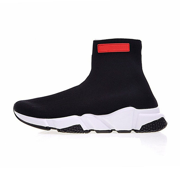 2019 luxury speed sock speed trainer casual shoes men and women shoes speed stretch-knit shoes mid sneakers size with box t01