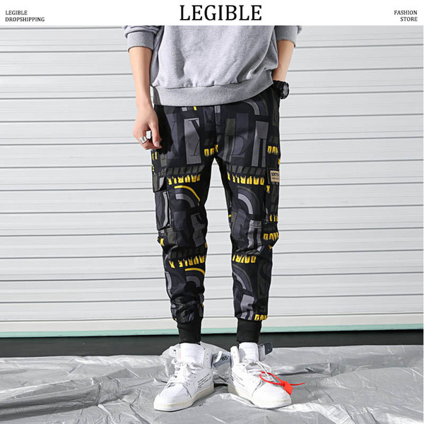 LEGIBLE Men Pants Funny Print Streetwear Joggers 2019 Hip Hop Sweatpants Male Harajuku Fashions Ankle-Length Pants Men