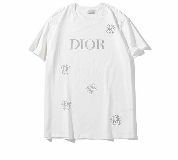 Para mujer para hombre 2019SS Nueva camiseta de la manera con la marca de impresión de moda diseñador de moda Top Tees manga corta camiseta ocasional S-2XL