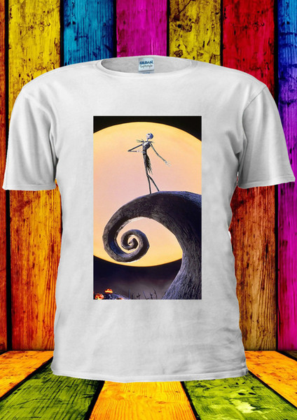 Nightmare Before Christmas Jack Fear T-shirt Vest Tank Top Men Women Unisex 327 Size Classic Quality High t-shirt Style Round Style tshirt