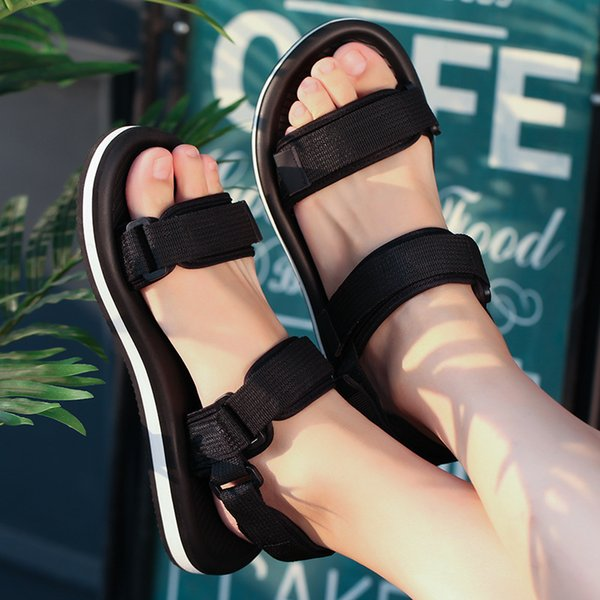 Sandals men's summer 2019 new couple Roman beach shoes comfortable anti-slip sandals and slippers casual male drag NY-48