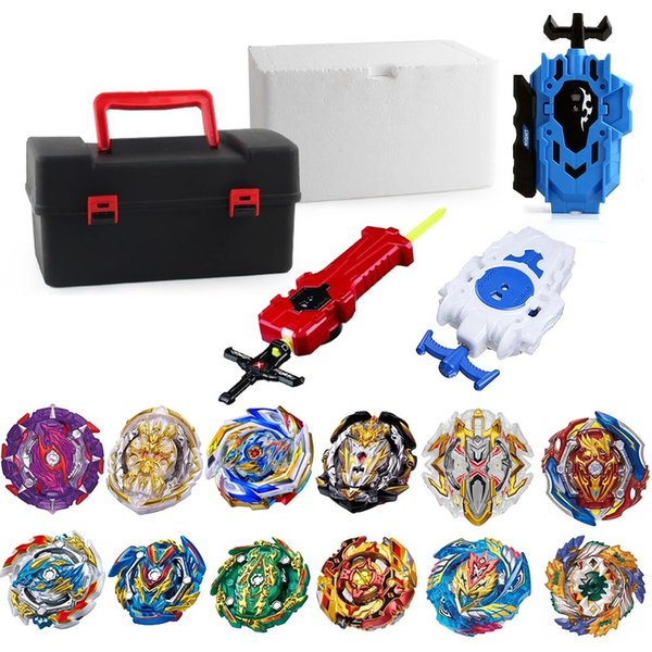 top popular Tops Beyblade Burst GT bey Blade Toy Metal Funsion Bayblade Set Storage Box With Launcher Plastic Box Toys For Children Y200703 2020