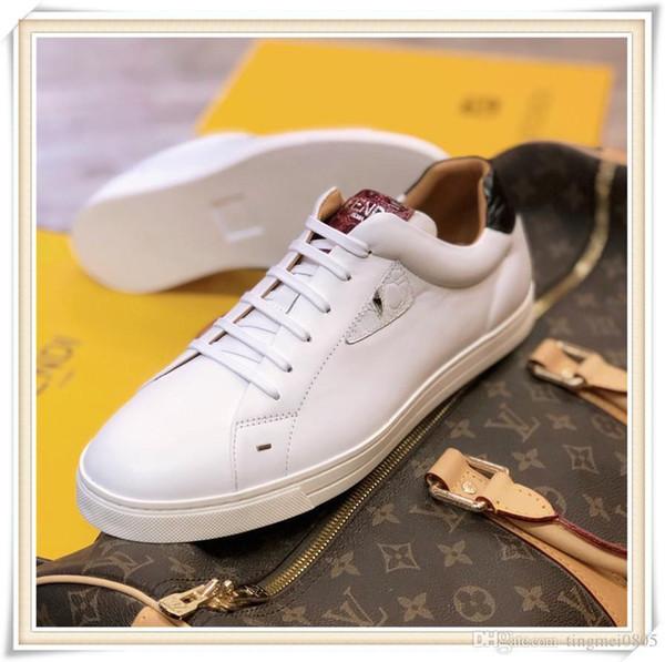 Deri Erkek Ayakkabı Günlük En Kaliteli Erkek Ayakkabı Moda Tipi Chaussures hommes Bilek Trainer Sneaker Orta Üst Tasarım Lüks Bırak Gemi dökmek
