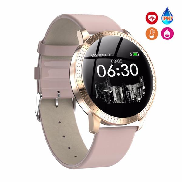 Remise en forme féminine montre intelligente femmes en cours d'exécution Reloj moniteur de fréquence cardiaque Bluetooth podomètre tactile montre de sport intelligente pour la course T190704