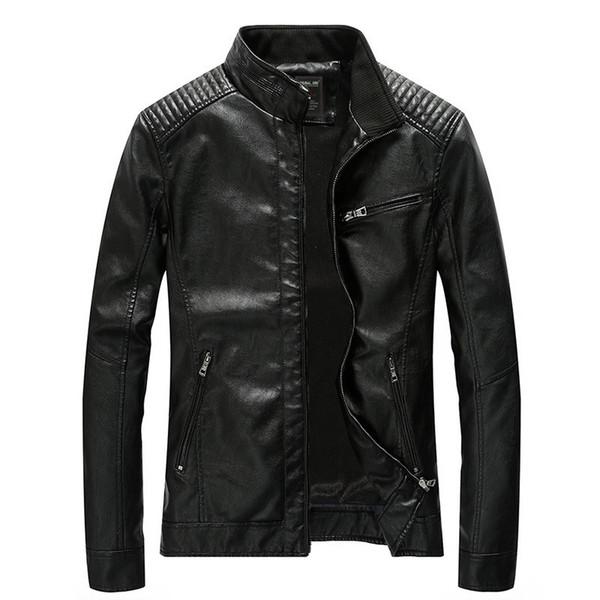 2019 новинка мужская модная кожаная куртка мотоциклетная куртка мужская куртка для осени прямая поставка