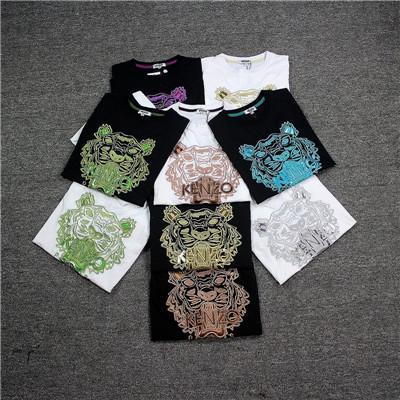 Verão quente 2019 marca KEN de manga curta T-shirt dos homens JD001 tigre cabeça designer de letra dos homens roupas T-shirt franc Paris bordados rodada