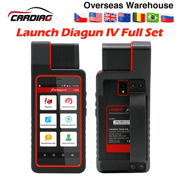 Launch X431 Diagun IV with Wifi Auto OBD2 Diagnostic Tool X431 diagun 4 full set with cables Code Reader better than easydiag