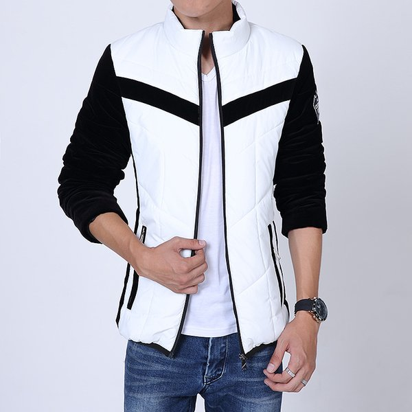 Winter Fashion Brand Casual Men Thick Down Coat Overcoat Contrast Color Outdoor Coats Warm Clothing Jacket Wear