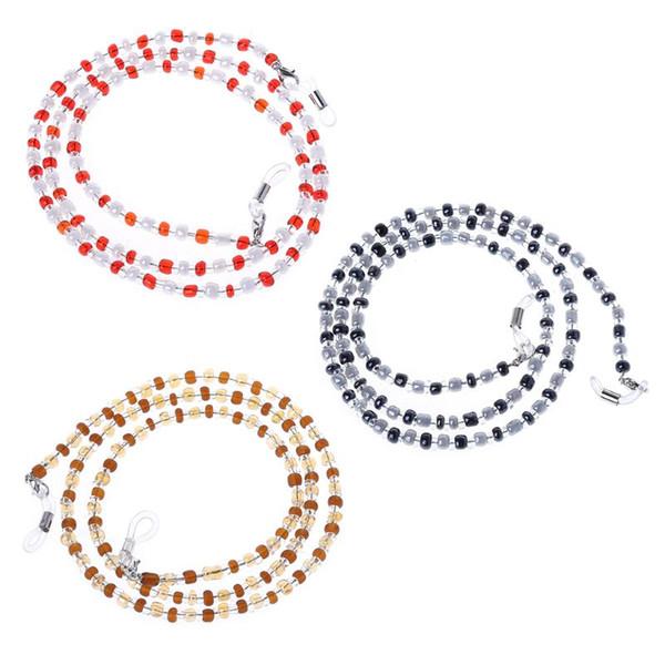 Femmes Acrylique Perlé Lunettes De Vue Spectacle Lunettes Lunettes Porte-Chaîne Lanière Corde Sangle Collier Antidérapant Accessoires