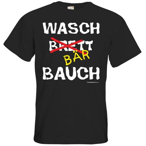 Getshirts RAHMENLOS® Geschenke T-Shirt Divertido Wasch Bär Bauch Presente Impressão T-shirt Hip Hop Camiseta T NOVO CHEGADA T