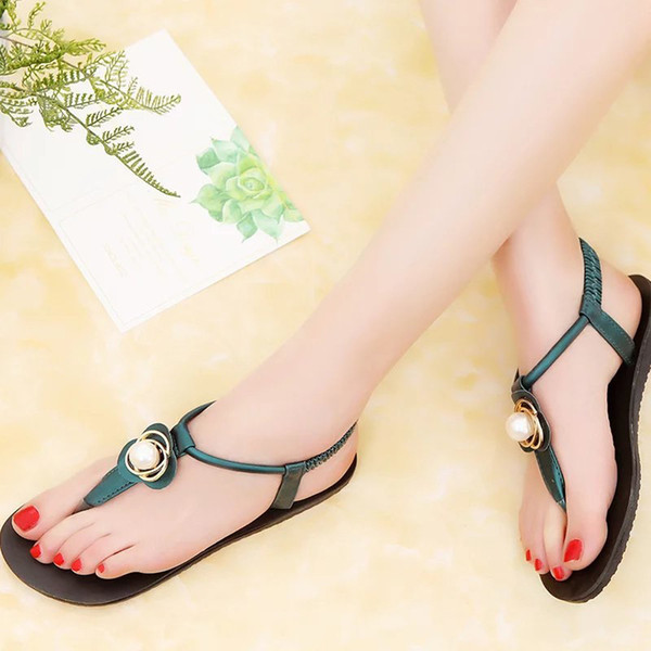 Fashion 2019 Women Shoes Sandals Comfort Sandals Summer Flip Flops Bohemia Leisure Lady Gladiator Peep-Toe Outdoor Shoe