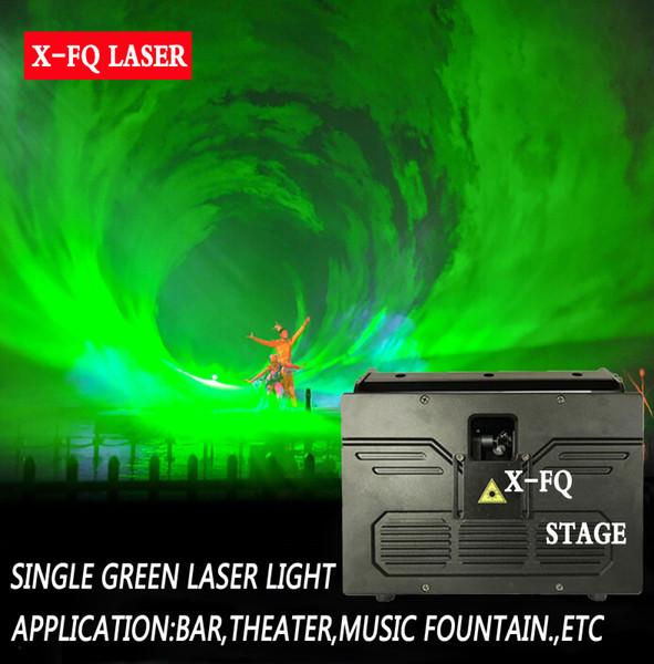 프로그램 ILDA 2W G 그린 스카이 레이저 조명 DMX 스캔 조명 디스코 파티 웨딩 디스코 프로젝터