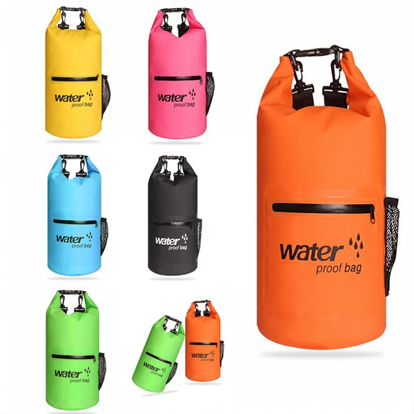 20L Waterproof Dry Bag For Beach Backpack For Swimming Drifting Kayaking Fishing Adjustable Shoulder Straps Outdoor Sports Backpack M234Y