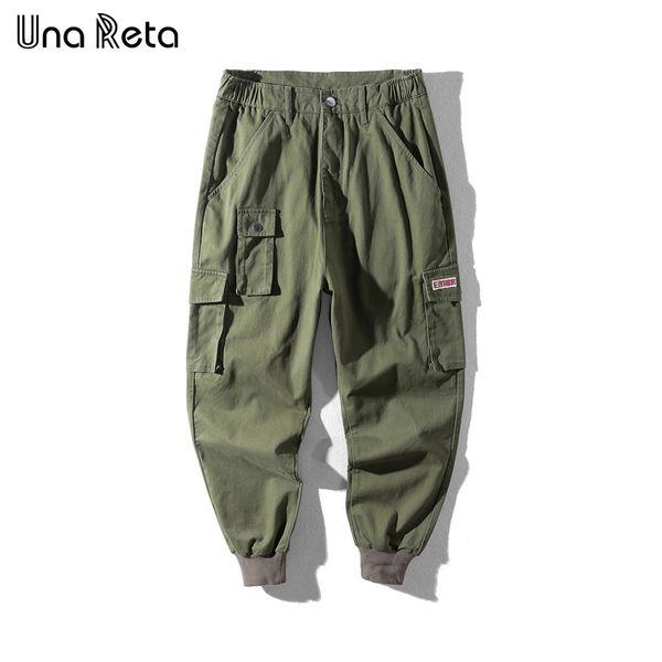 Una Pants Men's New Arrivals Fashion Casual Trousers Man Pocket Design Solid Color Pants Hip Hop Men Pants Streetwear C19041601