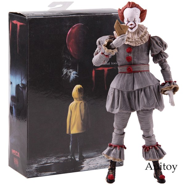 Neca Toys Stephen King's It The Clown Pennywise Figure Pvc Horror Action Figures Collectible Model Toy C19041501
