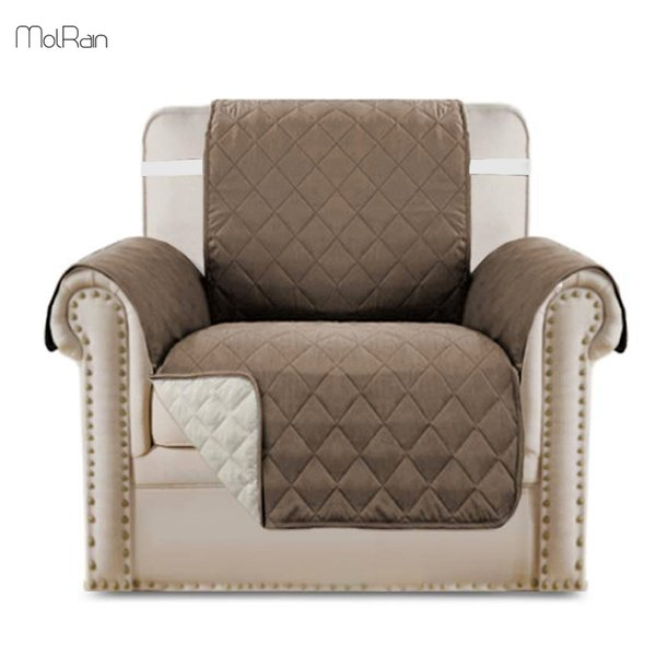 High Quality Chair Cover Slipcover Reversible Quilted Furniture Protector Microfiber Sofa Chair Protector with Elastic Straps