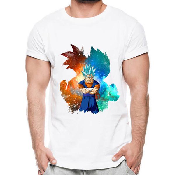 Dragon Ball T Shirt Men Summer Dragon Ball Z Super Son Goku Vegeta T-Shirts Funny free shipping Unisex