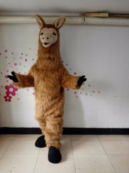 Halloween Lama Maskottchen Kostüm Hohe Qualität Cartoon Brown Camel Anime Thema Charakter Weihnachten Karneval Party Kostüme
