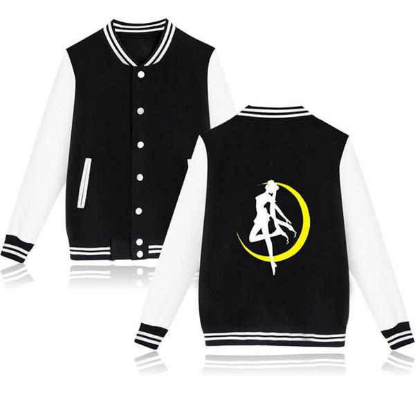 Fashion Sailor Moon Jacket Women Capless Sweatshirt Fashion Anime Winter Hoodies Women Jacket Clothes Cotton Coat