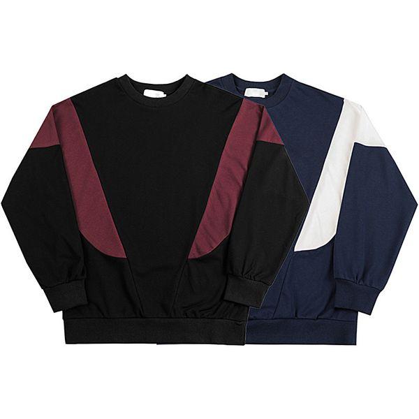 PALA Street Color Matching Baseball Long Sleeve Pullover Tee Street Hip Hop Casual Splice Sweater Sweatshirt T Shirt HFYMWY235