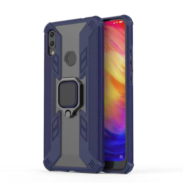 Case for Xiaomi Redmi Note 7 Case Xiaomi Mi 9T Silicone Armor Finger Ring Bumper Shockproof Cover Phone Cases Luxury Redmi 7 Note 7 Cases